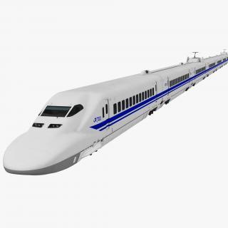 3D model Bullet Train JR700 Japan Railways Rigged
