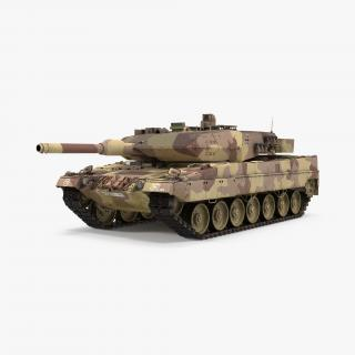 German Battle Tank Leopard 2A5 Desert 3D