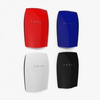 Tesla Powerwall Set 3D model