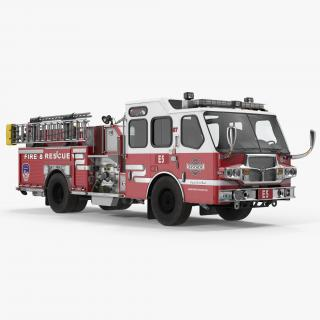Eastside Fire Rescue E-One Quest Pumper 3D model