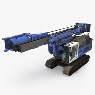 3D model Spiral Drilling Machine Folded