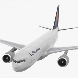Airbus A330-P2F Lufthansa Rigged 3D