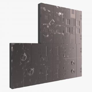 3D Sci-Fi Anodized Panels Set
