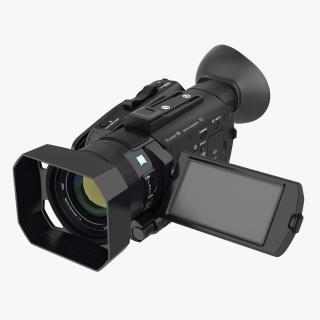 3D Compact Camcorder Sony PXWS X70 Rigged model