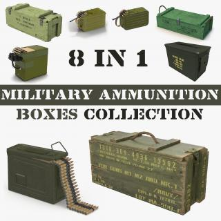 3D Military Ammunition Boxes Collection