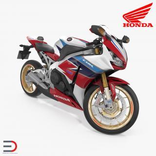 3D Honda CBR 1000RR Fireblade 2016 Rigged model