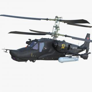 Kamov Ka-52 or Alligator Russian Attack Helicopter Rigged 3D
