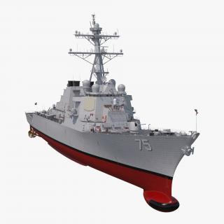 Arleigh Burke Destroyer Donald Cook DDG-75 3D