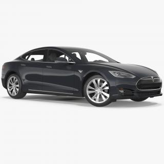 3D Tesla Model S 60 2015 Rigged model