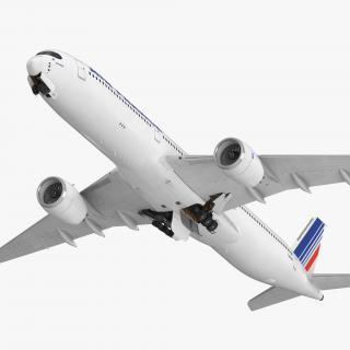 Airbus A350-1000 Air France Rigged 3D model