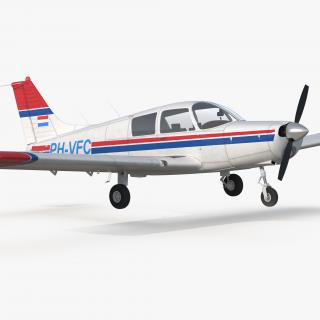 Piper PA-28 Cherokee Rigged 3D