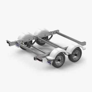 3D model Trailer Back Chassis
