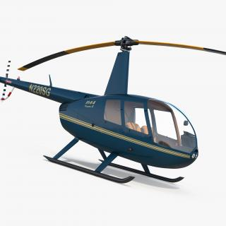 Light Helicopter Robinson R44 3D model