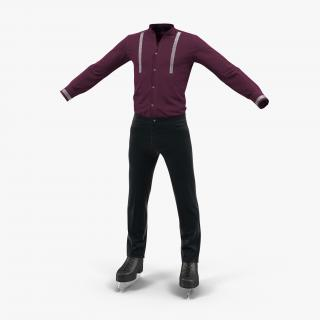 3D Male Figure Skater Costume