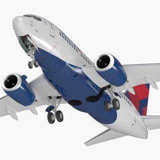 Boeing 737-600 with Interior Delta Air Lines 3D model
