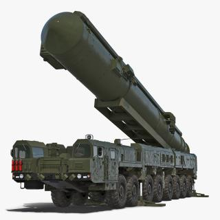 3D RT-2PM Topol Mobile Intercontinental Ballistic Missile Rigged