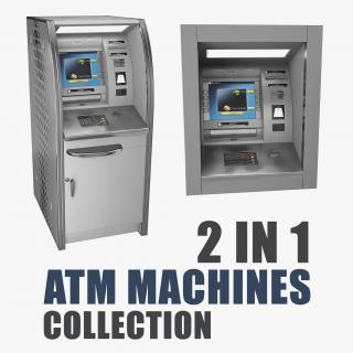 3D ATM Machines Collection model
