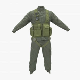 US Helicopter Pilot Uniform 3 3D model