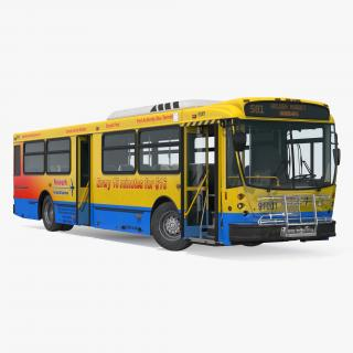 3D model Bus Nabi Model 416 NYC Airport Express Rigged