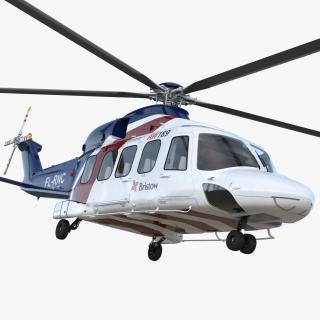 Corporate Transport Helicopter Agusta Westland AW189 3D