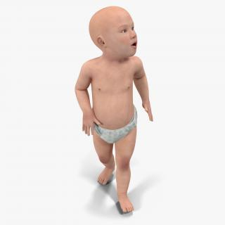 Asian Baby Rigged 3D