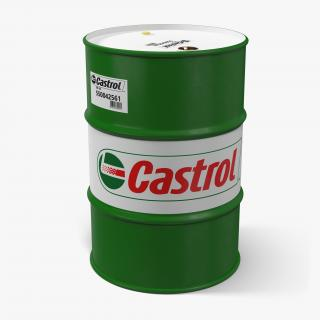 Steel Barrel Drum Oil Castrol 3D model