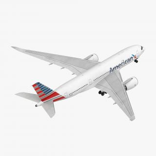 Airbus A350-800 American Airlines Rigged 3D Model 3D model