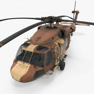 3D model Sikorsky UH-60 Black Hawk Military Israel Utility Helicopter