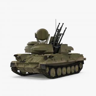 Anti Aircraft Tank ZSU 23 Shilka Rigged 3D model