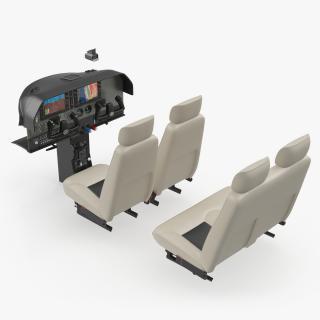 3D model Light Airplane Cabin