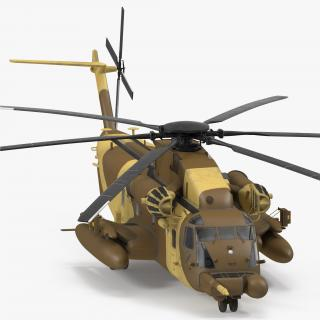 3D Combat Helicopter Sikorsky MH-53 Pave Low