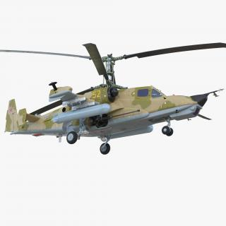 3D Attack Helicopter Kamov KA-50 Black Shark