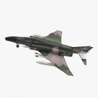 McDonnell Douglas F-4 Phantom II Rigged 3D model