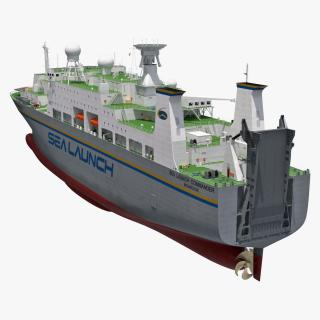 Rocket Launch Command Ship Sea Launch Commander 3D