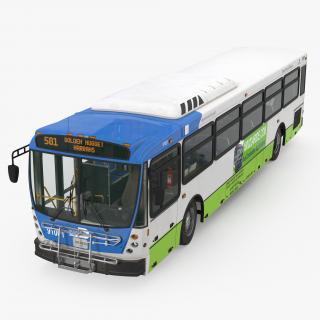 Bus Nabi Model 416 Miami Dade Transit 3D