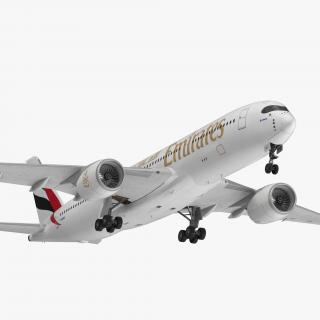 Airbus A350-900 Emirates Air Line Rigged 3D Model 3D model