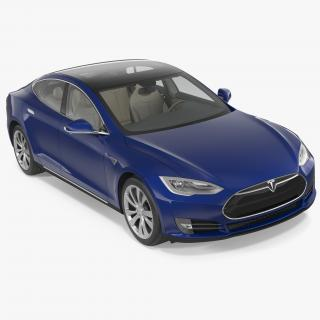 Tesla Model S 75D 2015 3D
