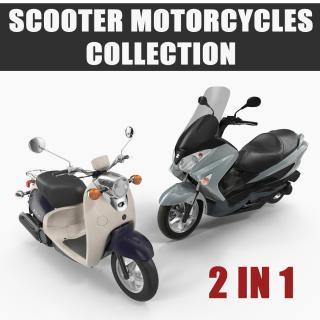 3D model Scooter Motorcycles Collection