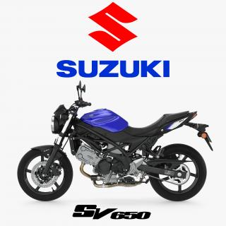3D model Street Motorcycle Suzuki SV650