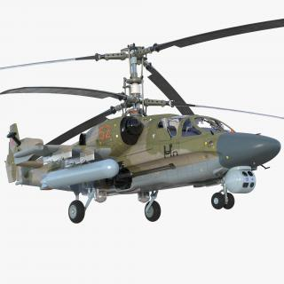 3D Kamov KA52 Black Shark Attack Helicopter Hokum A model