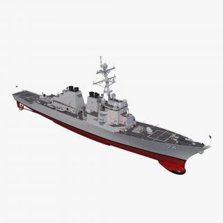 Arleigh Burke Destroyer McFaul DDG-74 Rigged 3D model