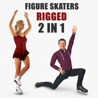 Rigged Figure Skaters Collection 3D