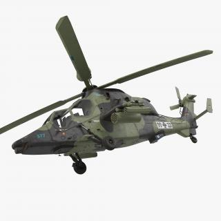 3D Eurocopter Tiger EC665 German Rigged