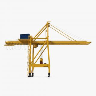 Quayside Container Crane with Container 3D model
