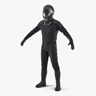 3D Sci-Fi Space Suit Black model