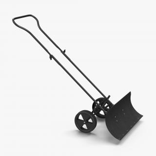 Wheeled Snow Pusher 3D model