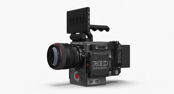 3D Red Weapon Dragon 5k Professional Movie Camera