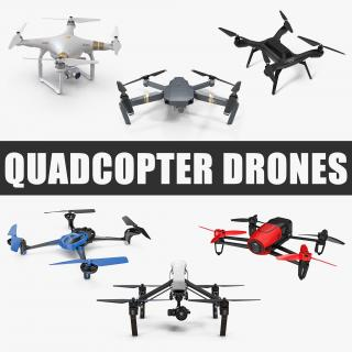 3D Quadcopter Drones Collection model