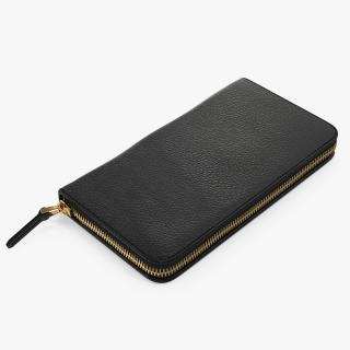 3D Zip Around Wallet Black model