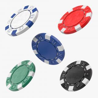 3D model Poker Chips Set